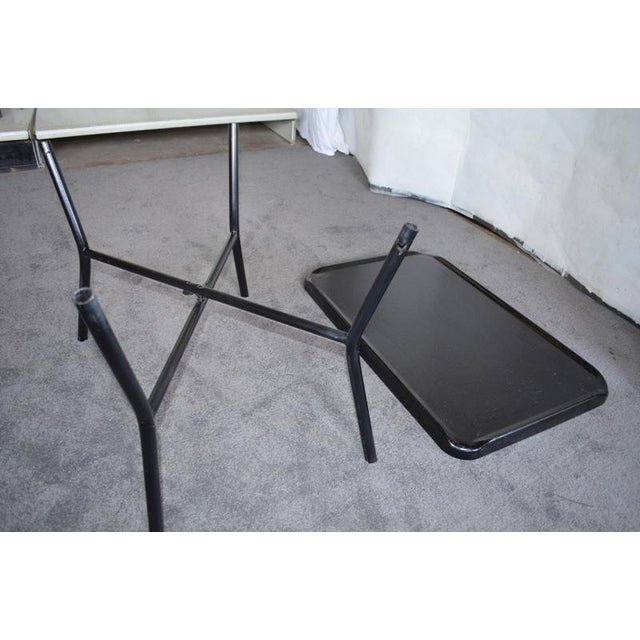Russel Wright Black Metal Tray Table - Image 6 of 7
