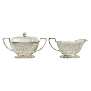 Antique Cream & Sugar Set - A Pair