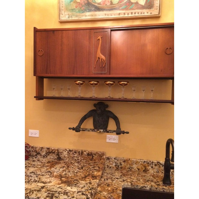 Image of Melchiorre Bega Italian 1950's Liquor Cabinets & 3 Stools