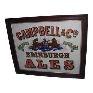 Campbell & Co Edinburgh Ales Original Framed Advertising