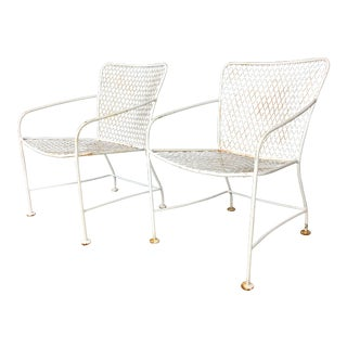 Iron Modernist Armchairs in Style of Van Keppel Green