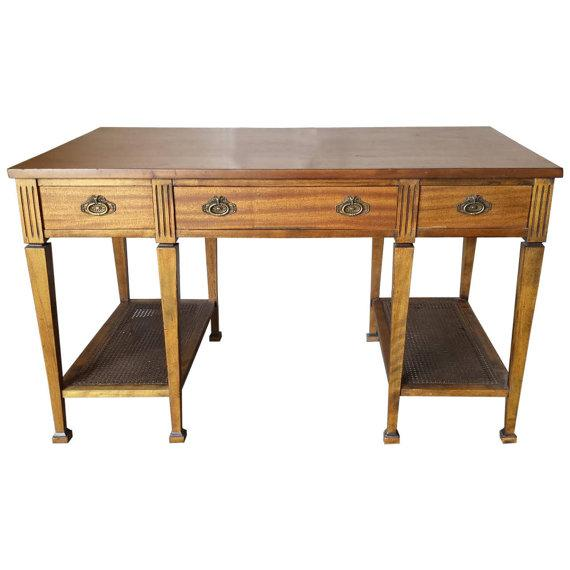 Mid Century Two Tier Desk Table - Image 1 of 5