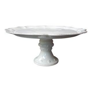 White Ceramic Cake Plate
