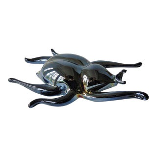 Art Glass Beetle Paperweight Figurine