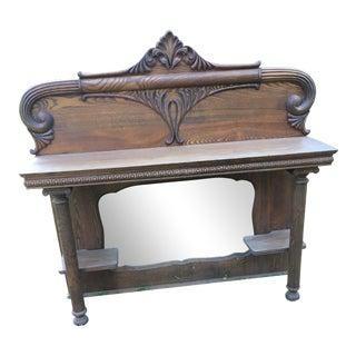 Vintage Oak Parlor/ Mantel Mirror