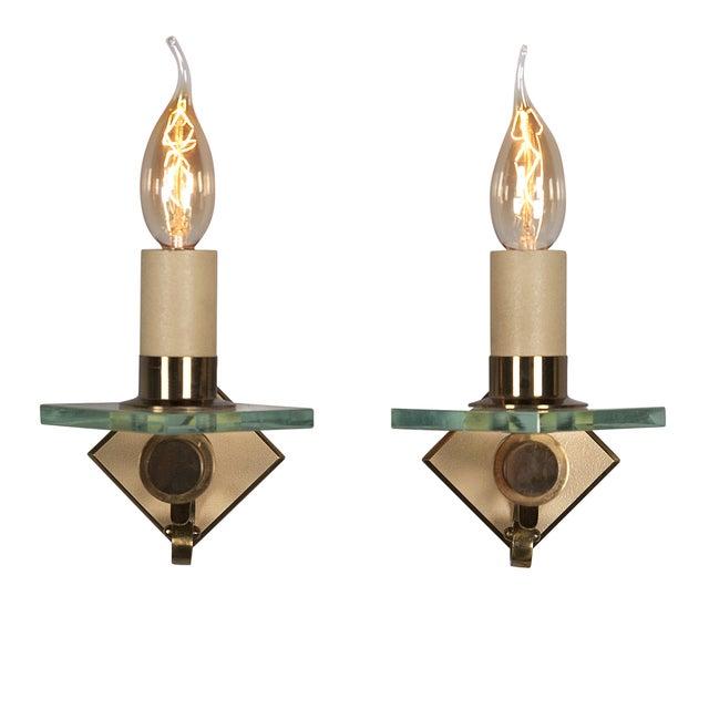 Fontana Arte Style Single Light Sconces - Pair - Image 5 of 7