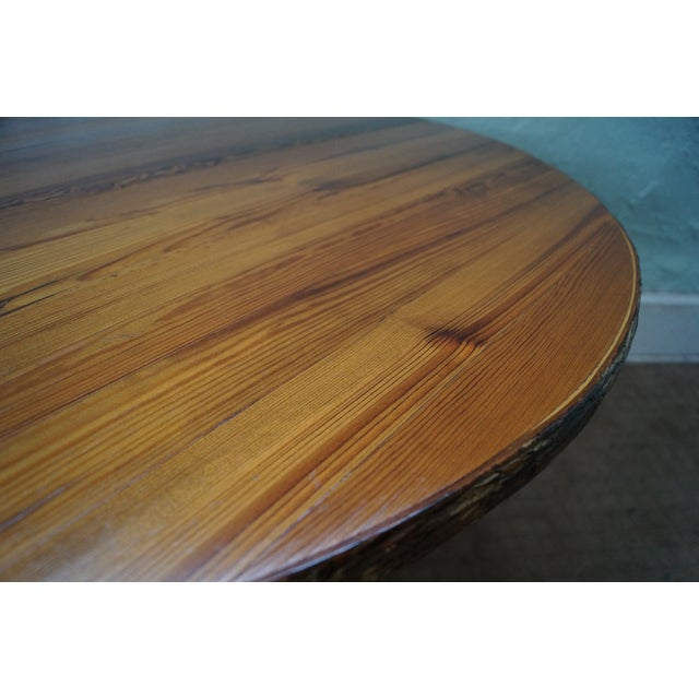 Image of Old Hickory Rustic Tree Form, Round Dining Table