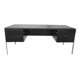 Stow & Davis Chrome Minimalist Executive Desk