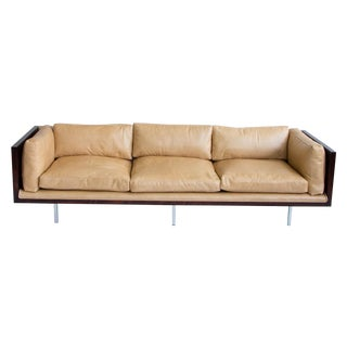 Milo Baughman Rosewood & Leather Case Sofa