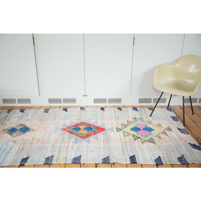 "Vintage Moroccan Rag Rug - 4'1"" X 8'6"" - Image 8 of 8"