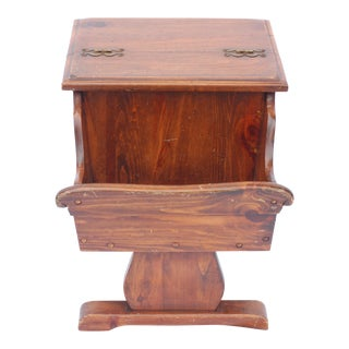 American Colony Style Pine End Table Magazine Holder