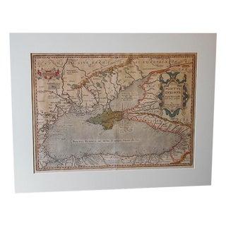 """Antique Map""""Pontus Euxinus [The Black Sea]"""" C.1590"""