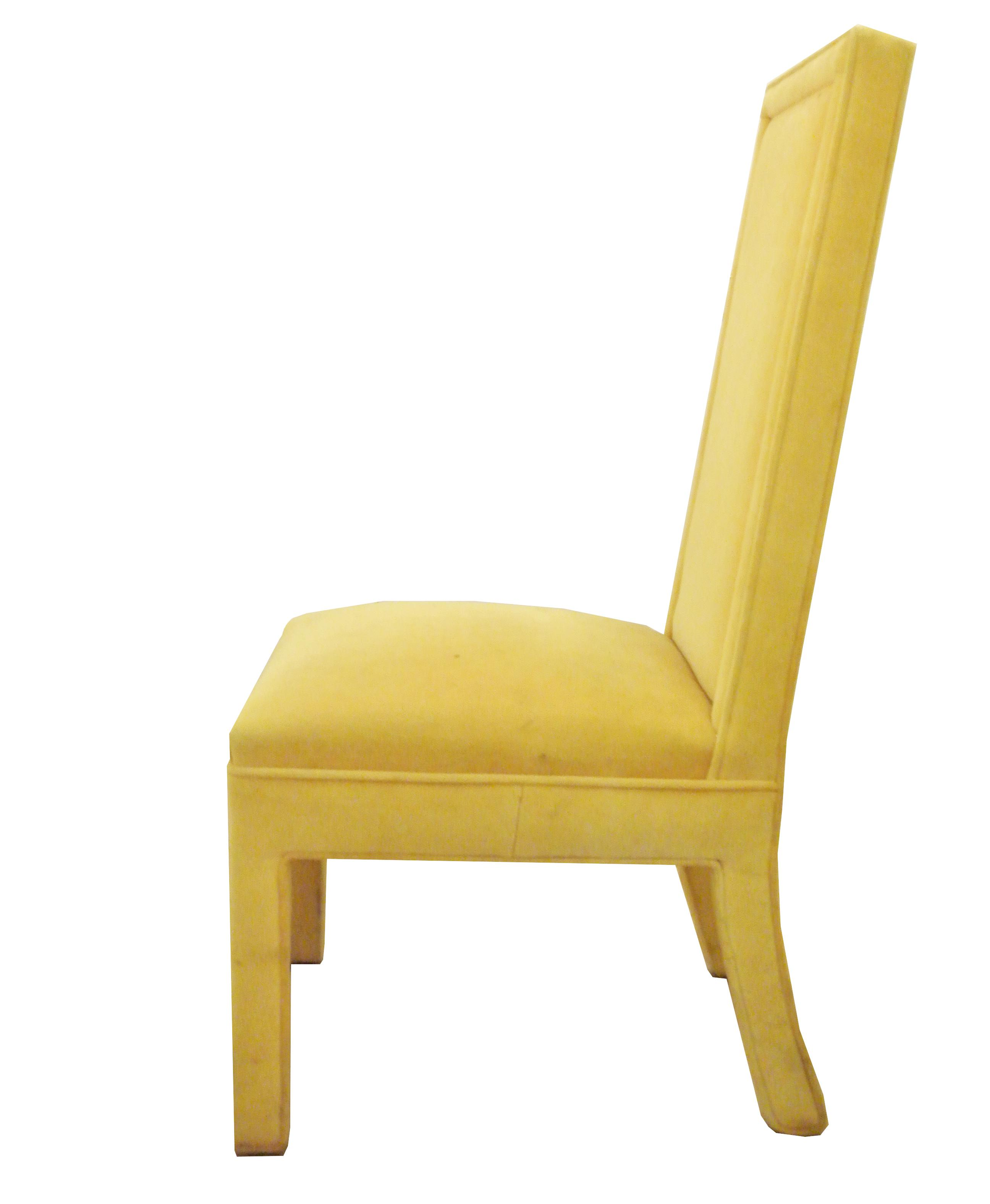 Yellow Faux Mohair Upholstered Parsons Dining Chairs Set  : d3fbf315 87c8 4a88 b946 0f303330c601aspectfitampwidth640ampheight640 from www.chairish.com size 640 x 640 jpeg 18kB