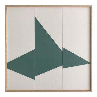 "Jason Trotter Original Acrylic Painting ""Seafoam on Point Triptych - Jet0466"""