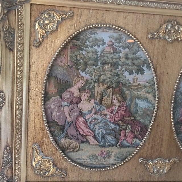 Vintage Parisian Framed Tapestry - Image 5 of 6