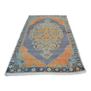 Vintage Turkish Anatolian Wool Rug - 4′7″ × 7′7″