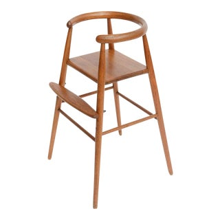 Teak Child's Modern High Chair Nanna Ditzel for Kolds Savvaerk