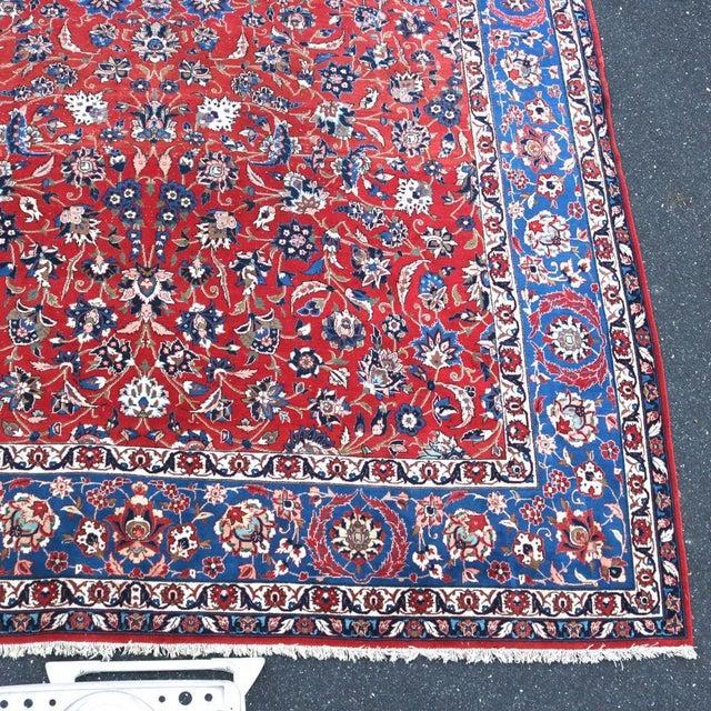 Vintage Persian Antique Handmade Rug 10x13 - Image 4 of 11
