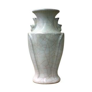 Chinese Ru Ware Celadon Ceramic Gray White Color Vase cs2595