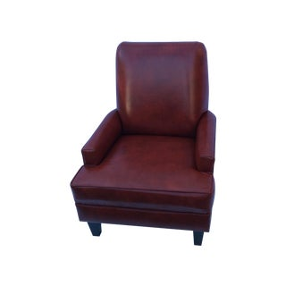 Mid-Century Red Leather Chair