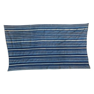 "Indigo Blue Striped Throw - 3'2"" X 5'7"""