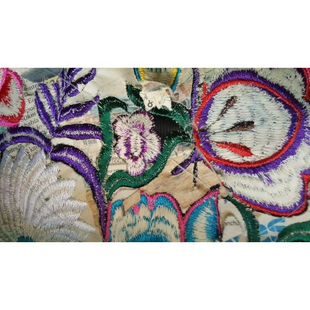 Ecuadorean hand embroidered floral pillow cover chairish