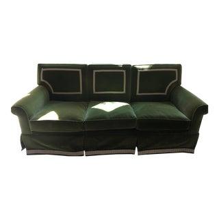 Green Velvet Upholstered Sofa