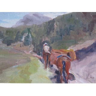 Horse & Rider Oil Painting on Linen
