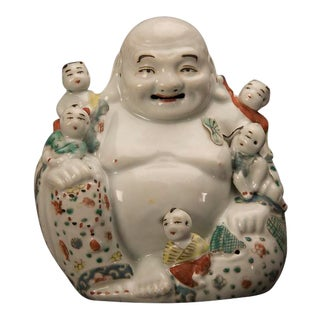 Chinese Happy Buddha Porcelain Figure, Kuang Hsu Period circa 1875