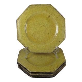 Rustic Pearl Beaded Rim Plates - Set of 5