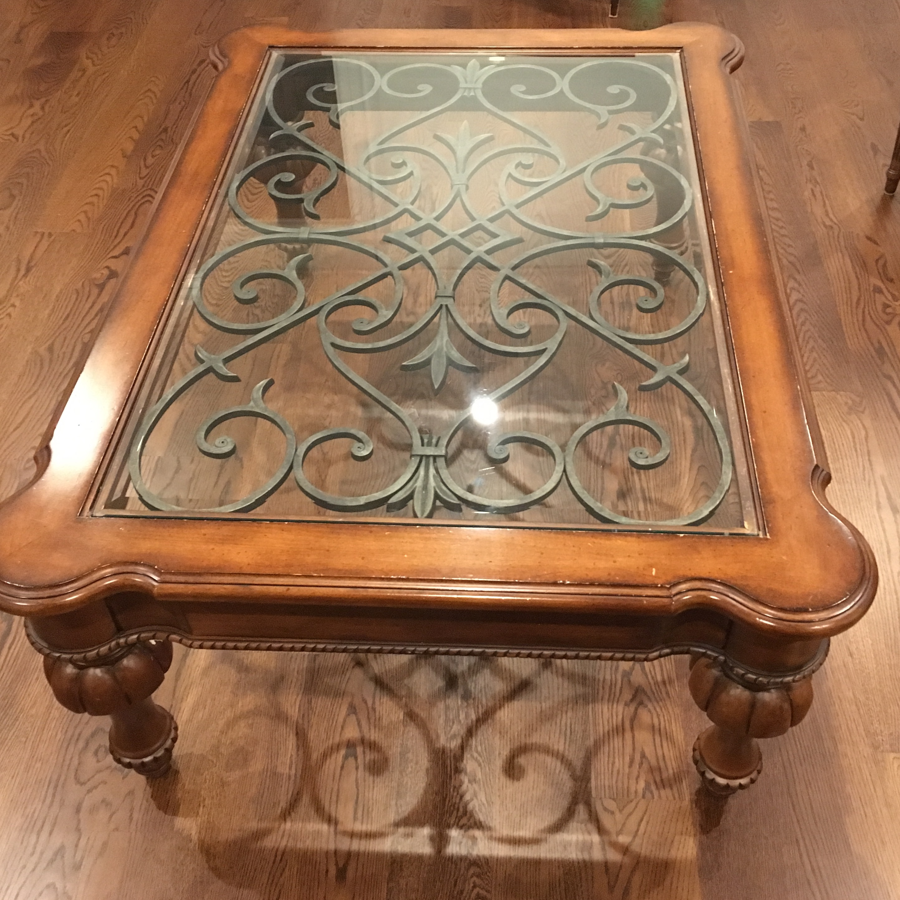 ethan allen tuscan coffee table | chairish