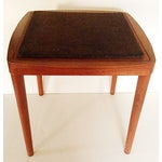 Image of Mid-Century Side Table With Stool