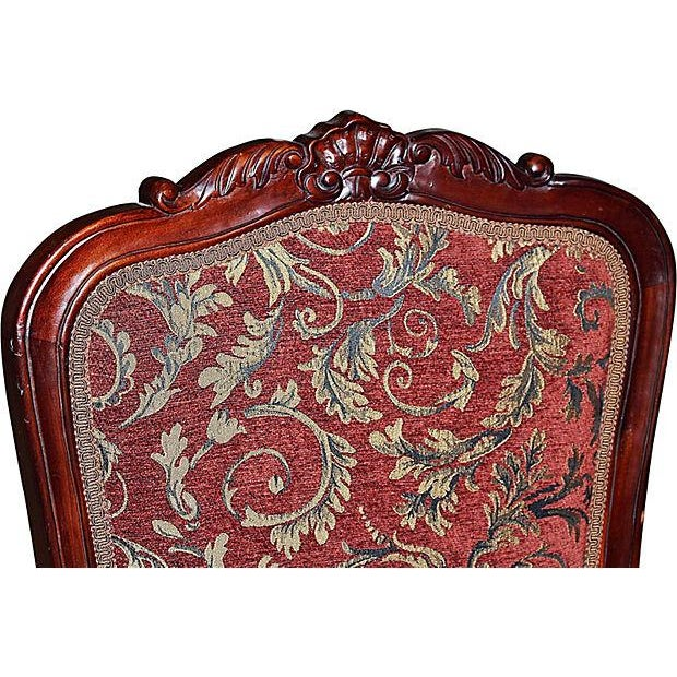 Louis XV-Style Mahogany Side Chairs - Set of 6 - Image 4 of 7