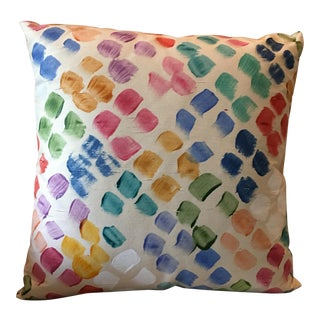 Hand Painted Silk Pillow by Peter Fasano