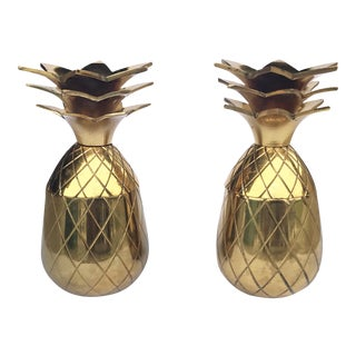 The Pineapple Co. Brass Shot Glasses - A Pair