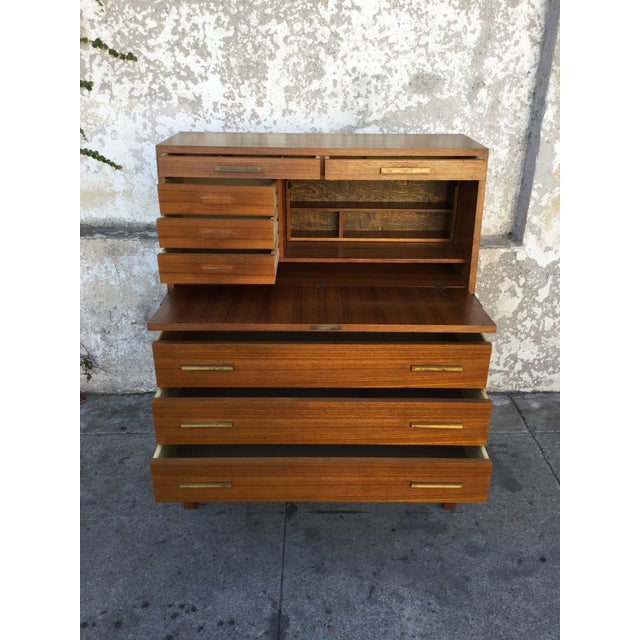 """Falsigs"" Made in Denmark Vintage Teak Desk - Image 5 of 7"