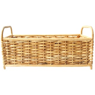 Vintage Rattan Basket or Planter