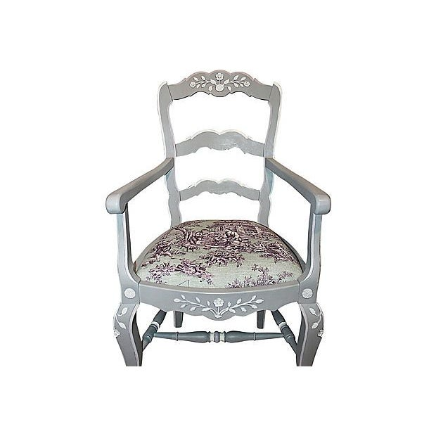 Image of French Country Armchairs - A Pair