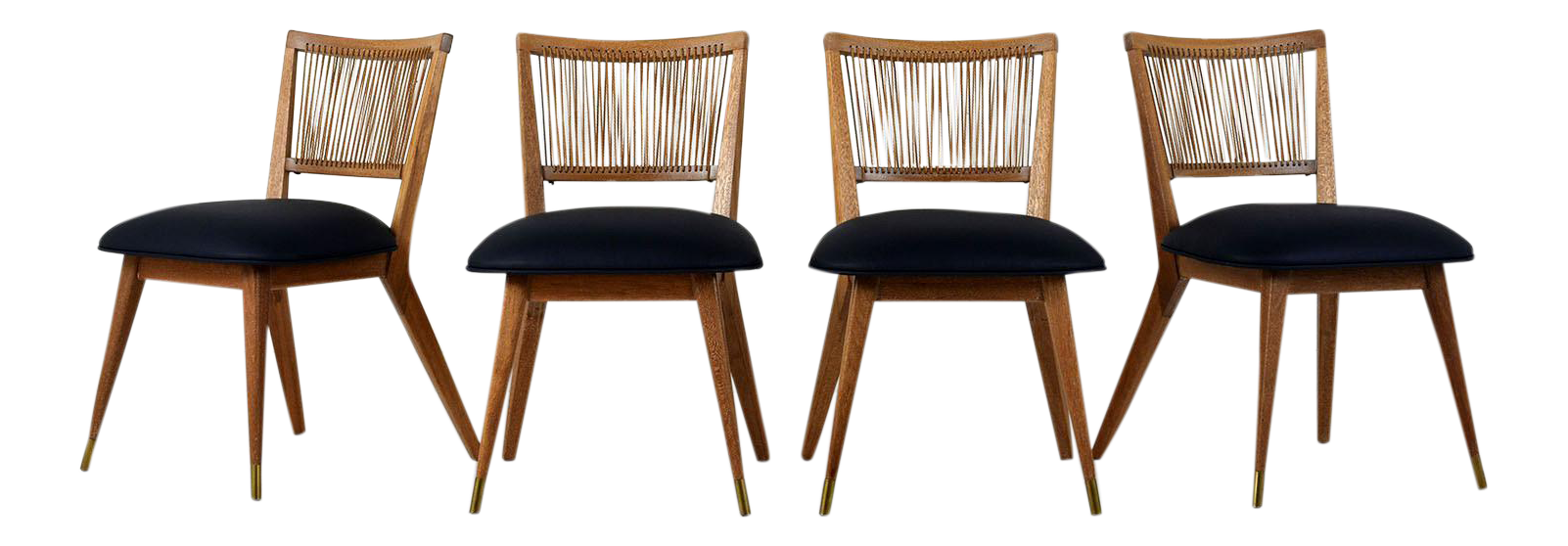 midcentury modern dining chairs set of 4