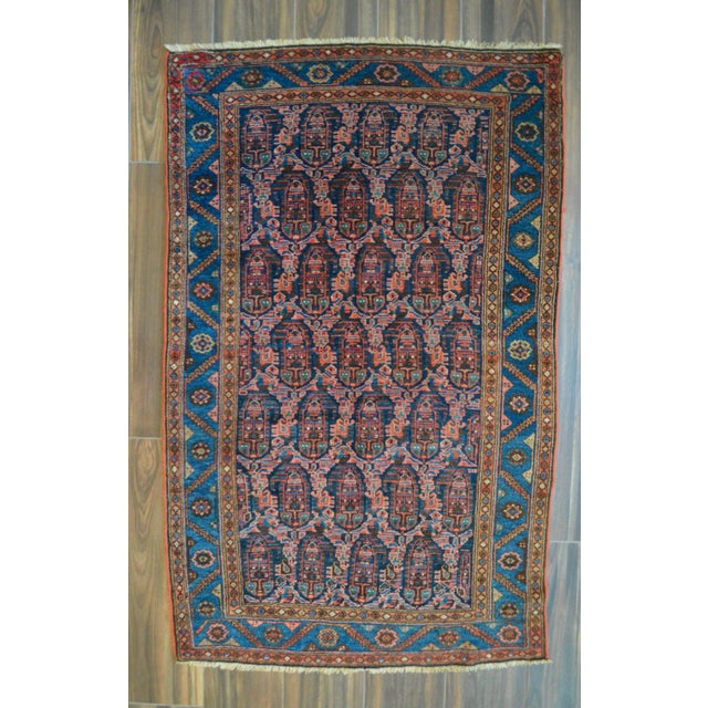 "Paisley Antique Persian Malayer Rug - 3'10"" X 6'4"" - Image 2 of 8"
