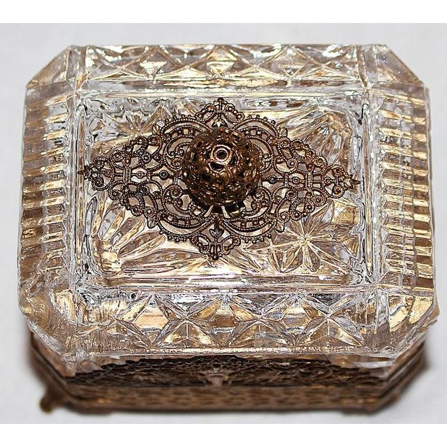 Hollywood Regency Glass Vanity Box - Image 5 of 7