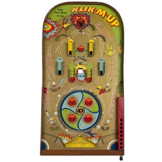 Vintage Klik-M-Up Pinball Game