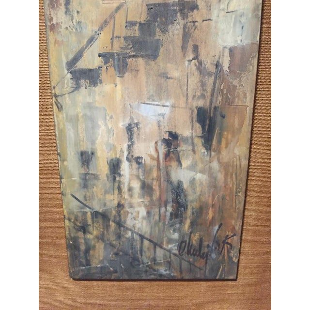 Signed Mid-Century City Scape Oil Painting - Image 4 of 11