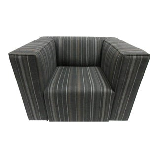 Cassina 180 Blox Armchair in Striped Upholstery