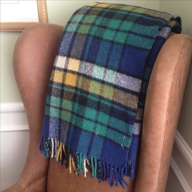Plaid Wool Tailgate/Picnic Blanket - Image 10 of 11