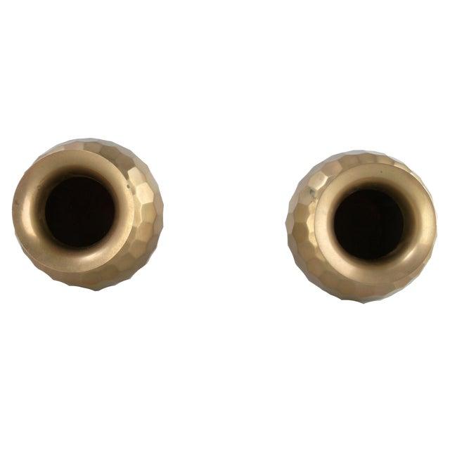Image of Decorative Brass Vases - Pair