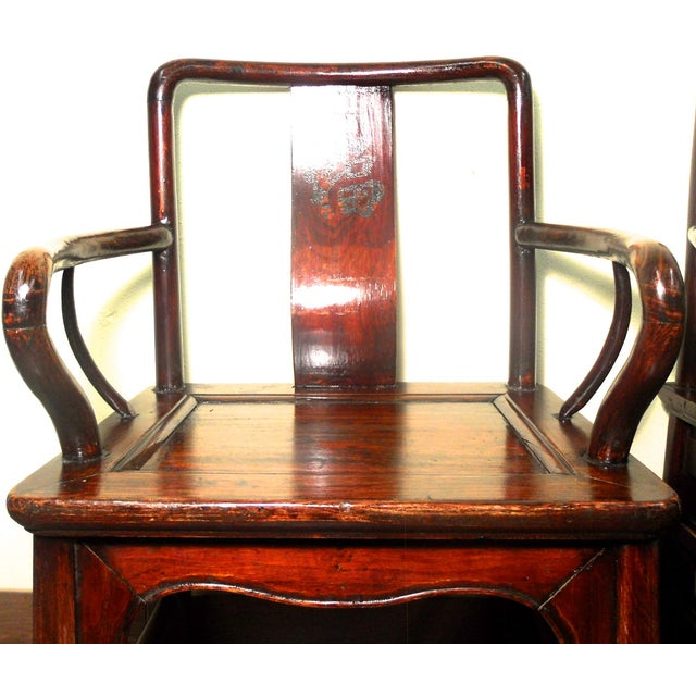 Image of Antique Chinese Ming Armchairs - A Pair