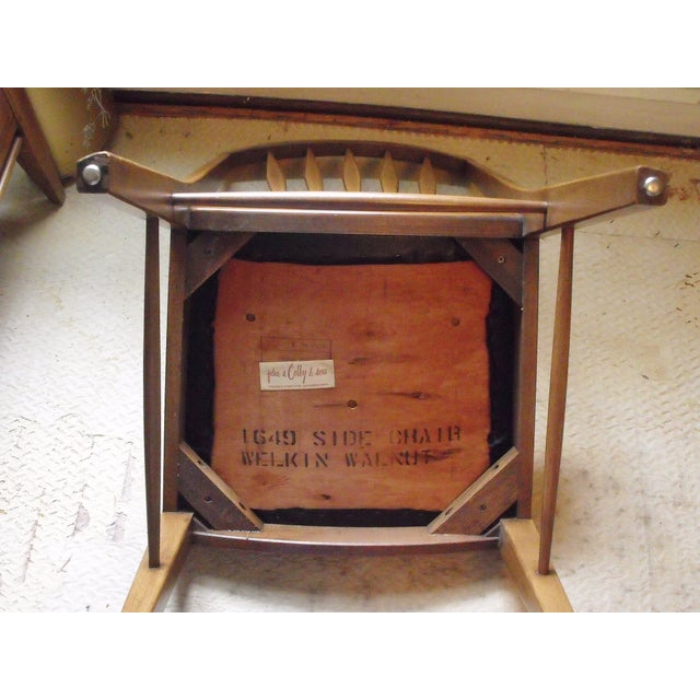 John A. Colby & Sons MCM Walnut Desk Chair - Image 7 of 8