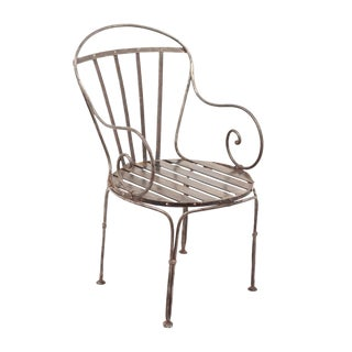 Antique Polished Steel Chair