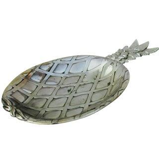 Silver-Plate Pineapple Platter